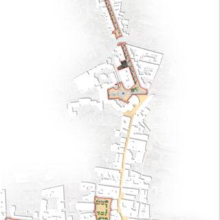 LA/BA Plan masse de la requalification du centre-ville de Bourgoin-Jallieu